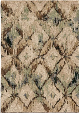 Orian Rugs Insanely Soft Diamonds Havana Beige Area Large Rug
