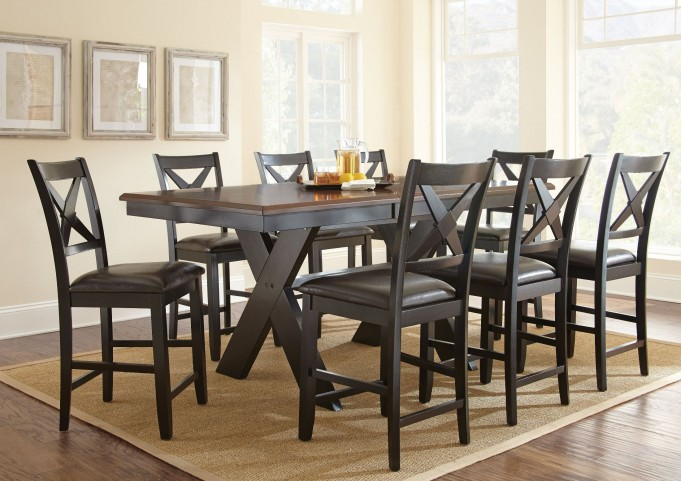 Violante Extendable Rectangular Counter Height Dining Room Set