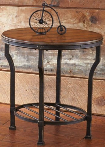Veneta Metal Base End Table