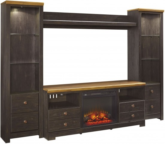 Maxington Two-tone Entertainment Wall Unit