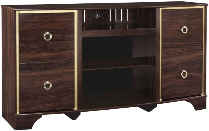 Lenmara Reddish Brown TV Stand