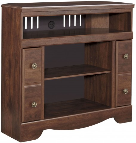 Brittberg Reddish Brown Corner TV Stand