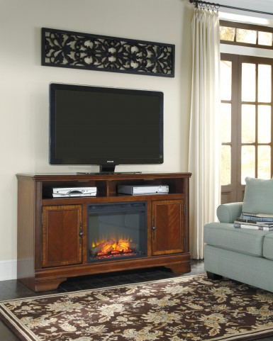 Hamlyn LG TV Stand With Glass/Stone Fireplace Insert