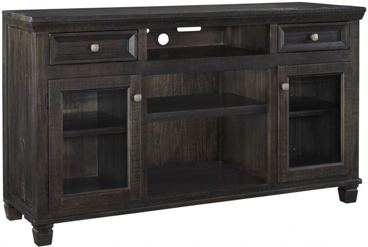 Townser Waxy Grayish Brown Large TV Stand