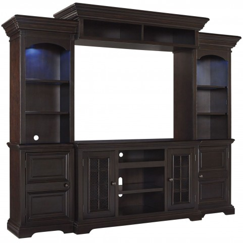 Willenburg Transparent Dark Coffee Large Entertainment Wall unit