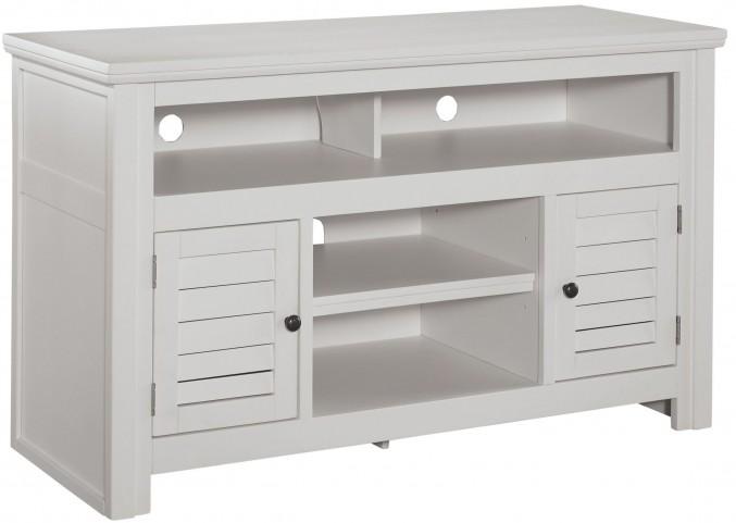 Idonburg White Large Tv Stand