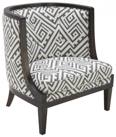 Walters Armchair Fabric in Geo Grey