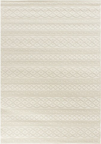 Orian Rugs Indoor/ Outdoor Knit Organic Cable ivory Area Large Rug