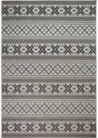 Orian Rugs Indoor/ Outdoor Textured Cablecross Charcoal Area Small Rug
