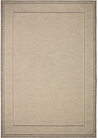Orian Rugs Indoor/ Outdoor Border Bonita Tan Area Small Rug