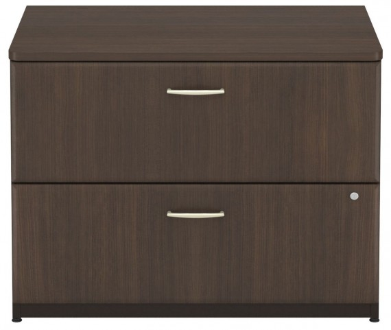 Series A Sienna Walnut 36 Inch 2-Drawer Lateral File