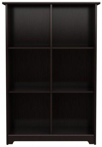 Cabot Espresso Oak 6 Cube Bookcase