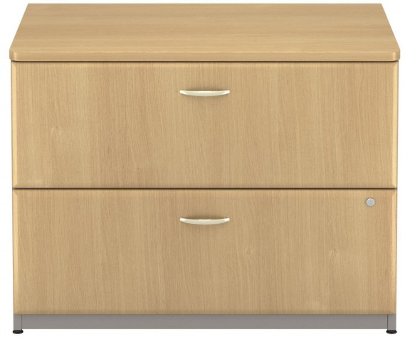 Series A Light Oak 36 Inch 2-Drawer Lateral File