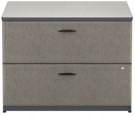 WC84854P Series A Slate 36 Inch 2-Drawer Lateral File