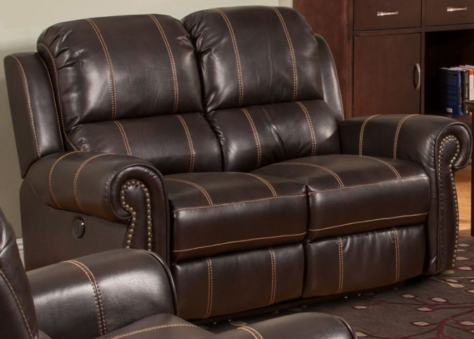 Webber Sumatra Dual Power Reclining Loveseat