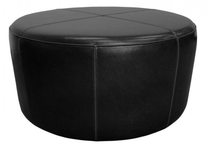 Wheel Black Ottoman