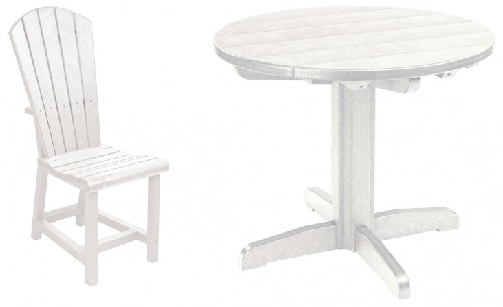 "Generations White 32"" Round Pedestal Dining Room Set"