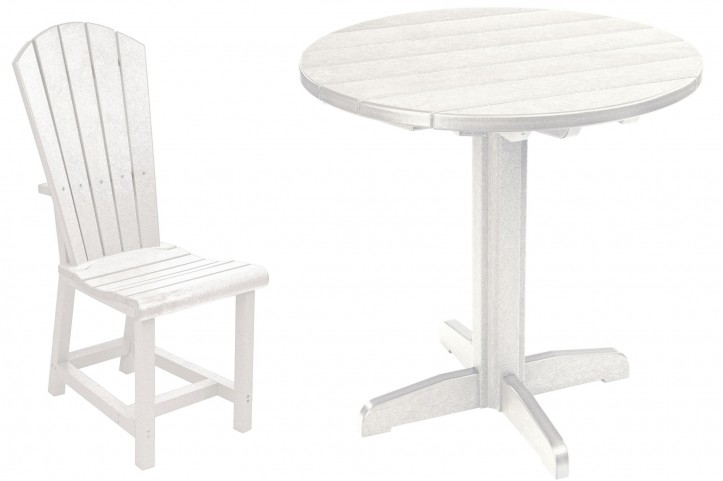 "Generations White 37"" Round Pedestal Dining Room Set"