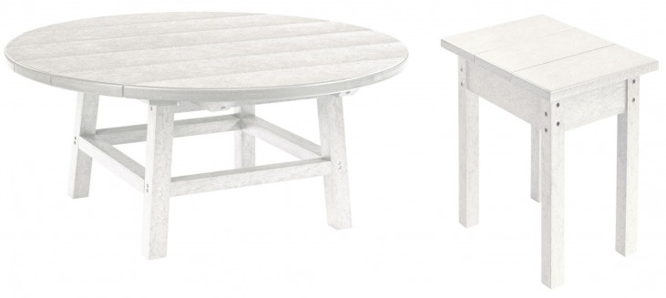 "Generations White 32"" Round Occasional Table Set"
