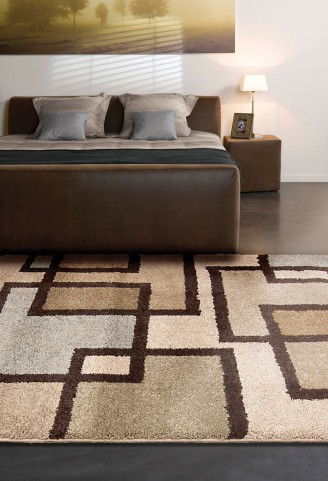 "Wild Weave Huffing Bisque Large 130"" Rug"