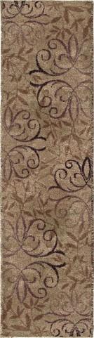 Orian Rugs Plush Scroll Dorian Beige Area Medium Rug