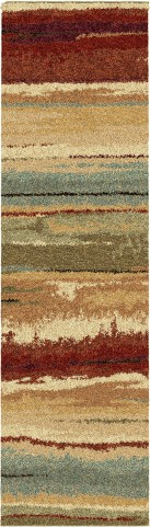 Orian Rugs Plush Stripes Dusk to Dawn Multi Area Medium Rug