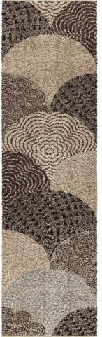 Orian Rugs Plush Abstract Oystershell Multi Area Medium Rug