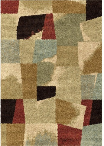 Orian Rugs Plush Abstract Rampart Multi Area Large Rug
