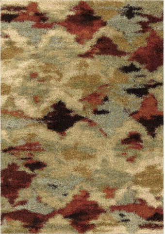 Orian Rugs Plush Abstract Harlequin Multi Area Small Rug