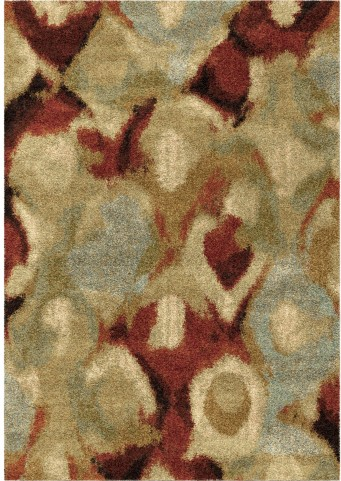 Orian Rugs Plush Stripes Misty Multi Area Small Rug