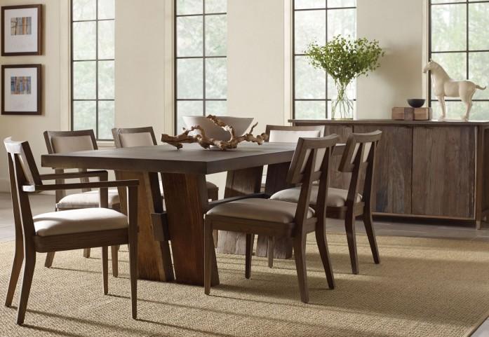Winston Zinc Top Rectangular Dining Room Set