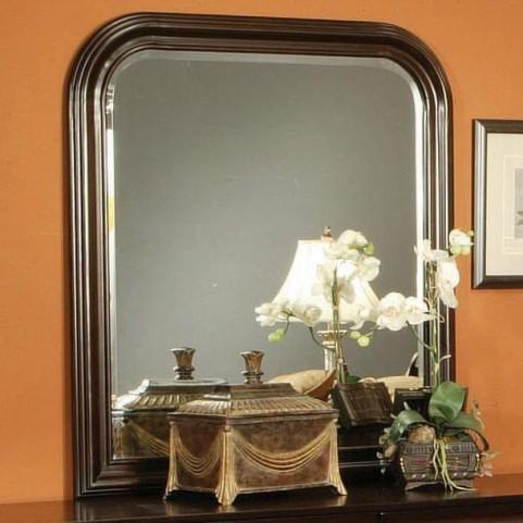 Louis Philippe Deep Cappuccino Mirror