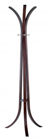 Contour Walnut Coat Rack