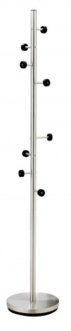 Swizzle Satin Steel And Black Coat Rack