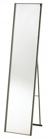 Alice Satin Steel Floor Mirror