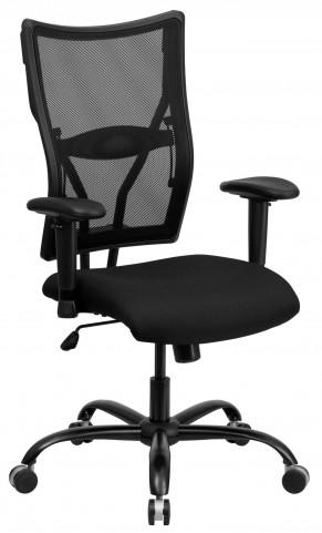 10001477 HERCULES Big & Tall Black Arm Office Chair