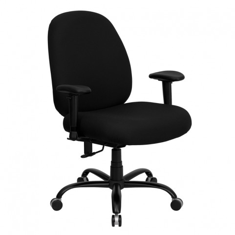 Hercules 500 lb. Capacity Big and Tall Black Office Chair with Arms and Extra WIDE Seat