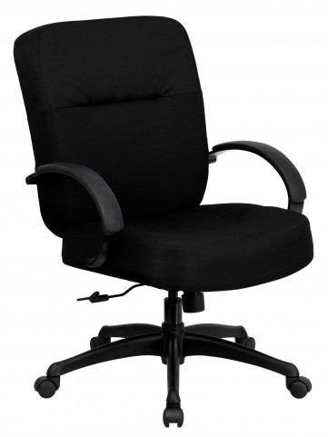 10001485 HERCULES Big & Tall Black Fabric Arm Office Chair