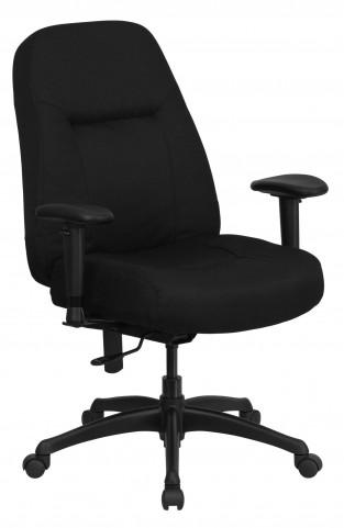 HERCULES High Back Big & Tall Black Fabric Arm Office Chair