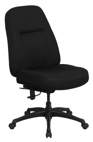 HERCULES High Back Big & Tall Black Fabric Office Chair