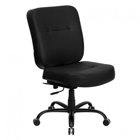 Hercules 500lbs Capacity Big & Tall Black Office Chair with Extra WIDE Seat
