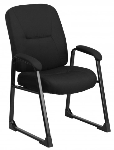 HERCULES Big & Tall Black Fabric Executive Side Chair