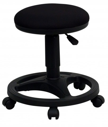 Black Foot Ring Ergonomic Stool