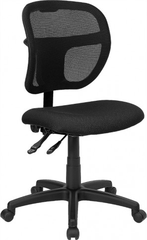 Mid-Back Task Chair with Black Fabric Seat