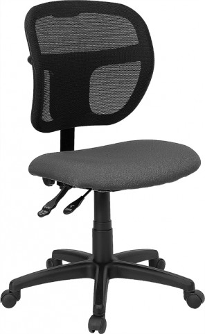 Mid-Back Task Chair with Gray Fabric Seat