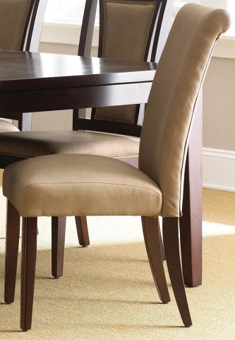 Wilson Merlot Cherry Parsons Chair Set of 2