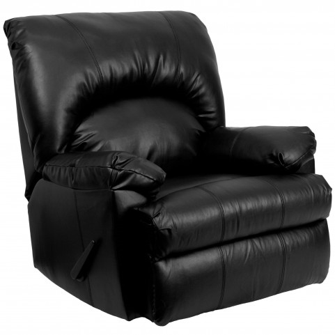 8500 Apache Black Leather Rocker Recliner