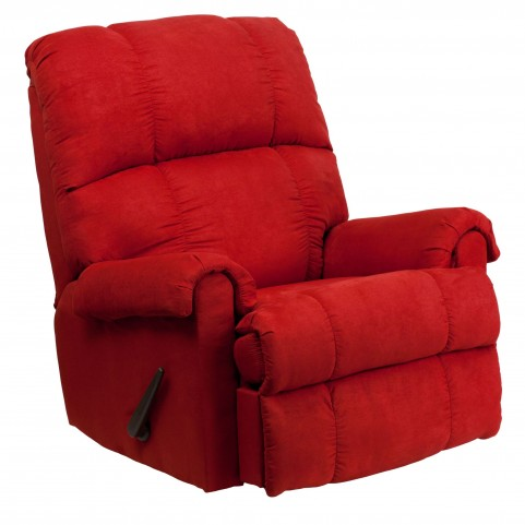 Flatsuede Red Rock Microfiber Rocker Recliner