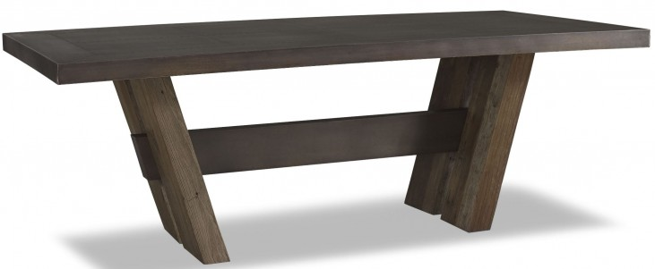 Winston Zinc Top Rectangular Dining Table
