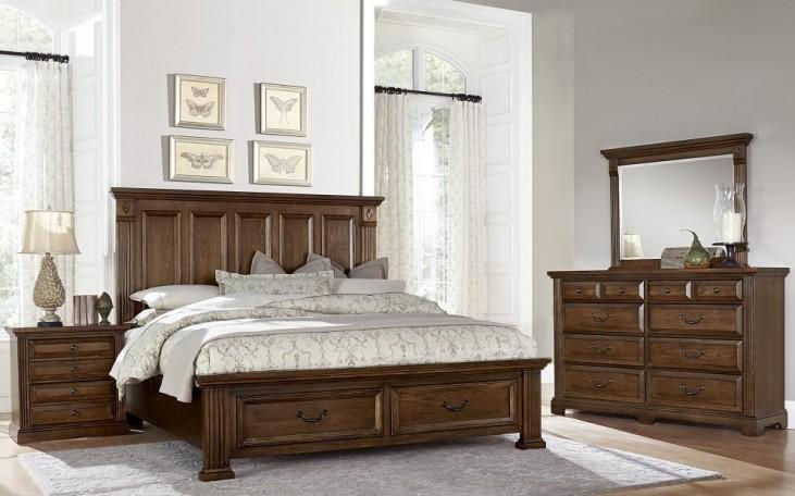 Woodlands Cherry Mansion Storage Bedroom Set